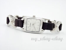 FOSSIL F2 ES1644 Silver Dial Stainless Steel With Leather Bracelet Ladies Watch