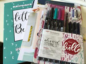 Brush Lettering Modern Calligraphy beginners bundle kit job lot books pens new