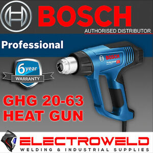 BOSCH Blue 2000W Heat Gun Variable Temperature Digital Guage 3 Stage - GHG 20-63