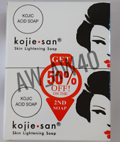 Kojie San Kojic Acid Lightening Acne Bleaching 2 x 135g UK Seller Soap GENUINE