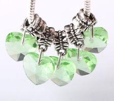 Exquisite 5pcs Silver big hole Beads Fit European Charm Pendant Bracelet AA246