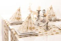 1 Tischläufer Christmas Dreams in Gold-Weiß  aus Linclass® Airlaid 40cm x 4,80m