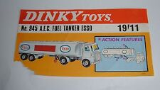 Dinky Toys No. 945, AEC Fuel Tanker 'ESSO' Display Sign, - Superb