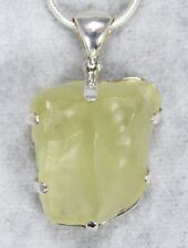 LIBYAN DESERT GLASS PENDANT $189 Tektite 925 Sterling Jewelry STARBORN LG189-P1