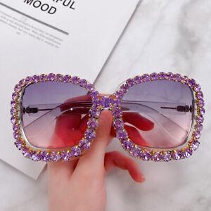 Luxury Rhinestone Square Sunglasses Women Fashion Outdoor shades UV400 Eyewear