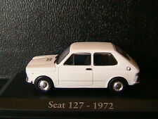 SEAT 127 WHITE 1972 RBA COLLECTABLES 1/43 BLANC BLANCHE BIANCA WEISS DIE CAST
