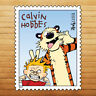 Calvin & Hobbies Funny Face Stamp USA Die Cut Wall Car Window Decal Sticker