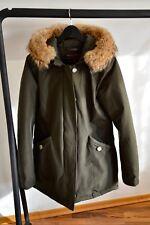 WOOLRICH Arctic Parka Größe L in Grün mit Pelz **NEU** Original mit Etikett