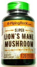 500mg Super Lion's Mane Mushroom 120 Powder Capsules Lions Dietary Supplement