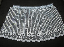 "BTY TRIM 4"" BLUE RUFFELED LACE COSTUME WEDDING SEWING CRAFTING SCRAPBOOKING"