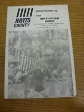 02/05/1973 Nottinghamshire County Cup Semi-Final: Notts County v Nottingham Fore
