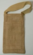"Sm. Burlap *Pocket* Handle Gift Bag ~ {4"" x 7""} ~ *(Listing One, Select Qty.)*"