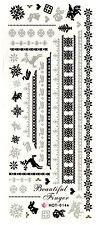 XXL One Stroke Sticker X-Mas Weihnachten Nikolaus Engel Nailart UV-Gel HOT014a