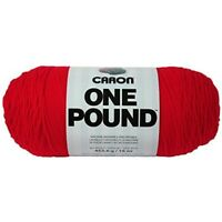 Spinrite Acrylic One Pound Yarn-scarlet - 400g Aran Wool Big Balls Caron Yarn