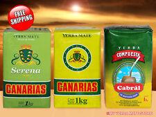 YERBA MATE FROM URUGUAY - Canarias - Serena - Cabral - 3 Kilos - FREE Shipping!
