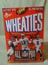 1996 Wheaties NFL All-Pro Quarterbacks Unopened Cereal Box Troy Aikman Elway
