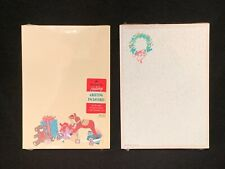 2 New Hallmark Christmas Note Pads Stationery Letters Wreath Presents