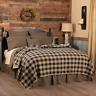 New Primitive Farmhouse BLACK CHECK COVERLET Quilt Bedding Pillows YOU CHOOSE