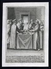 santino incisione 1594 S.FRANCESCO SUO CORDONE CREA SIGILLO PER TERRA SARNANO
