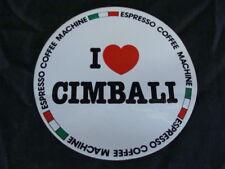 Adesivo sticker i love Cimbali macchine caffè espresso old vintage bar italy