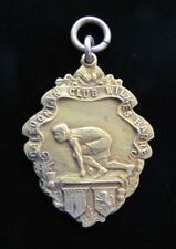1914 CALEDONIAN CLUB WILKES BARRE Sports Award Medallion 330yd Run XGOLDX D&C