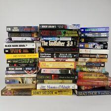 Lot of 39 Mixed Fiction Books James Patterson Robert Ludlum Godfather Dan Brown