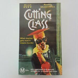CUTTING CLASS 1989 VHS Cel Video Brad Pitt Comedy Horror