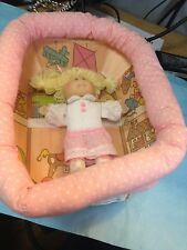 """CABBAGE PATCH PLAY PEN WITH 5"""" DOLL--1983------------------------------------jp"""