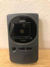 Vintage Casio TV-480 Portable Television Dual Band VHF UHF Screen Analog Tuner