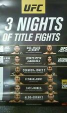RARE UFC 3 Nights of Title Fights 7/7-7/9 Promo Poster. Last minute issue