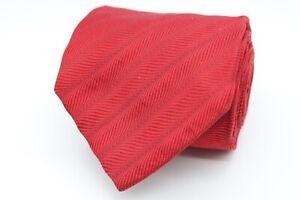 Hugo Boss Herren Krawatte 146cm 100% Seide Rot Gestreift #423