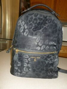 Michael Kors Morgan Black Backpack Handbag Bag Nylon
