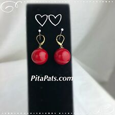So Pretty Big red Ball Earring