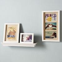 Stylish Display 4 Piece Photo Frame And Shelf Collage Set - Home Decoration
