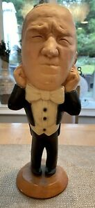 Three Stooges CURLY 1980 Esco Chalkware Statue ( See pics )