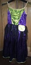 M&s Filles 2 Way Fancy Dress Costume Sorcière/Princesse Halloween Livre Jour Taille 6-8 ans