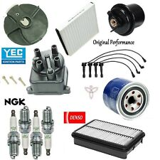 Tune Up Kit Filters Cap Rotor Plugs Wire Set for Honda CR-V 2.0L 2001