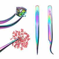 Straight/Curved Rainbow Chameleon Nail Tweezer Clipper Nail Accessories Picker