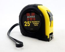 25' Power Tape Measure, Dual Sided, Auto Blade Lock, Magnetic Blade Tip, #52202