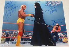 Sting Hulk Hogan Jimmy Hart Signed WWE 16x20 Photo PSA/DNA COA Picture WCW Auto