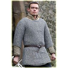 Round riveted with warser hubergion half sleeve Shirt Extra Large size chainmail