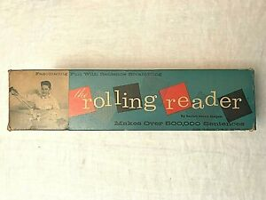 "Vintage 1958 ""THE ROLLING READER"" Word Game By Beulah Harris Stolpen"