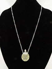 Unique New Faux Perfume Bottle Necklace from Lane Bryant with Crystals #N1024