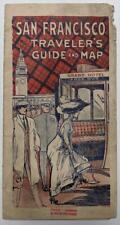ca. 1918 GRAPHIC OLD VINTAGE SAN FRANCISCO California CA TRAVEL BROCHURE w MAP