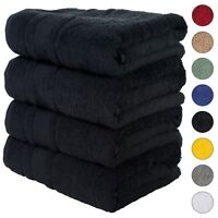 NEW BLACK Color ULTRA SUPER SOFT LUXURY PURE TURKISH 100% COTTON BATH TOWELS