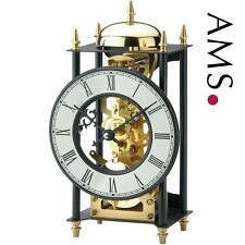 Merveilleuse Horloge de table, boîtier en métal noir montre bürotischuhr hauteur