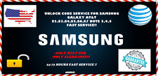 UNLOCK CODE SERVICE FOR SAMSUNG GALAXY AT&T S2,S3,S4,S5,S6,S7 NOTE 3,4,5