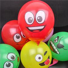 10 pcs ballons 12 pouce bande dessinée expression du visage latex, fête, etc...