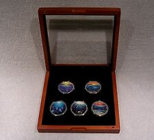 2007 Colorized American Silver Eagle Dollars - (5) One Ounce Coins - Marine Life
