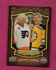 2009-10 UPD # BOS19 ORR + CLARKE BIOGRAPHY OF A SEASON CARD (INV# A6213)